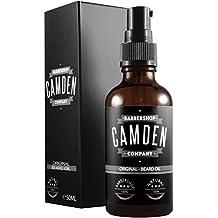 Camden Barbershop Company: 'ORIGINAL' Beard Oil, natürliche Bartpflege & frischer Duft, Bartöl mit Weichmacher-Wirkung (1 x 50 ml)