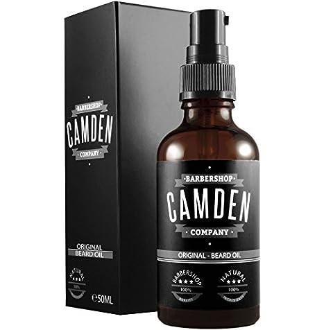 Camden Barbershop Company: 'ORIGINAL' Beard Oil, natürliche Bartpflege & frischer