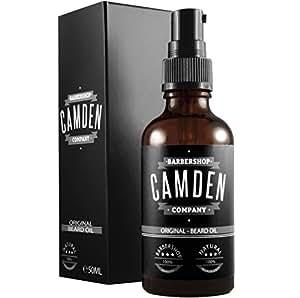 ● GAGNANT DU PRIX 06/2018 ● Huile à barbe «ORIGINAL» de Camden Barbershop Company ● Pour l'entretien et le soin de barbe ● Produit 100% naturel ● 50 ml