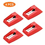 Replacement Needle for Turntable,Diamond Stylus Replacement Phonograph Record Player Needle,4 Pcs Recorder Player Needle For Crosley,Ion,Numark,Bush,Sanyo,Fisher,Pyle,Philips,Gemini
