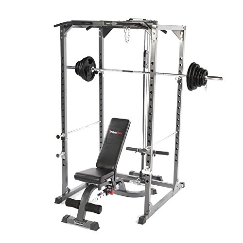 Bodymax CF375 ELITE Strength Package (Squat Rack, Pulley System, Rubber barbell set, weight bench)