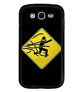 Fuson Premium 2D Back Case Cover Man tied With Multi Background Degined For Samsung Galaxy Grand i9080:::Samsung Galaxy Grand i9082