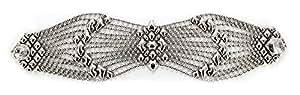 Bracciale in argento, stile antico B77, come SG Liquid Metal da Sergio Gutierrez & SG-Custodia e panno per la pulizia incluso, argento-placcato-base, colore: argento, cod. B77-AS