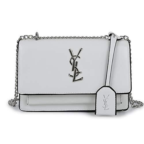 Neue Quaste kleine Tasche weiblich 2019 neue wilde kleine quadratische Tasche Mode einfache wilde Umhängetasche (Weiß, 22 * 7 * 15cm)