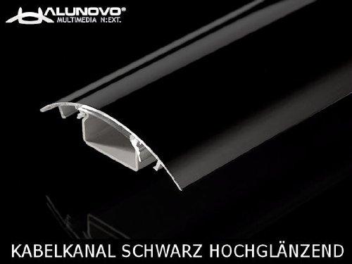 alunovo-multimedia-next-elegante-canale-copri-cavi-alluminio-nero-ultra-lucido-lunghezza-60-cm