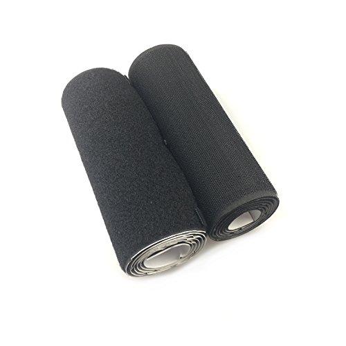 18cm (7'Zoll) Ultra Wide 1Meter lang (1,09Yards) selbstklebend Haken- und-Loop Streifen Set mit Super Sticky Klebstoff Nylon Stoff Verschluss weiß