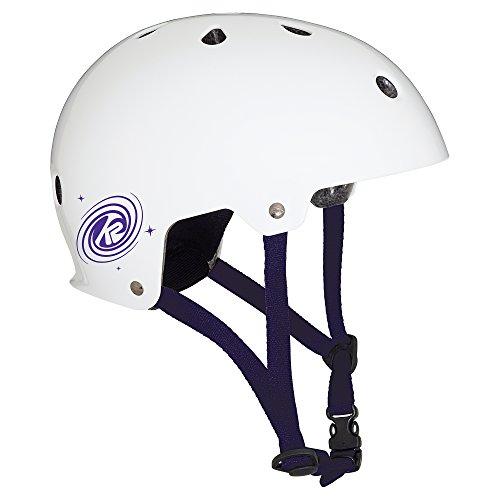 K2 Kinder Inline Skates JR Varsity Helm - Weiß-Violett - S (48-54cm) - 30C4201.1.1.S
