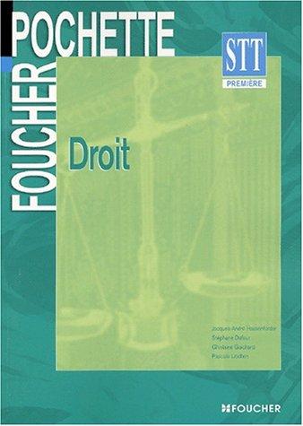 Foucher Pochette : Droit, BAC STT