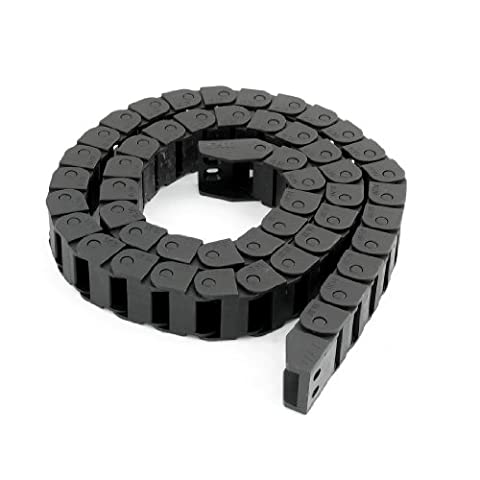 Ouverte en plastique 15 mm x 20 mm, frein de chaîne porte-Encastrables-Noir - 110 cm
