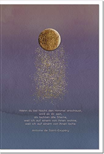 Trauerkarte HOFFNUNG | Sternenstaub | metALUm # 1001156