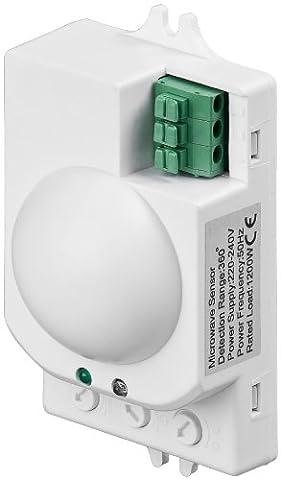 3er Set Bewegungsmelder mit Microwellensensor Hochpräziser Radar Bewegungsmelder, LED (3 Radar)
