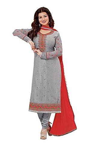 IWS Indian Women Designer Party wear Grey Anarkali Salwar Kameez R-15810