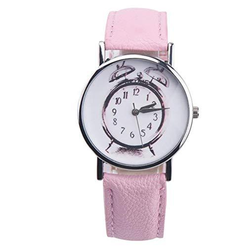 FDIJM Damenuhr Herren Wecker Muster Lederarmband Lässig Analog Vogue Armbanduhr , Pk - Vogue Herren Muster