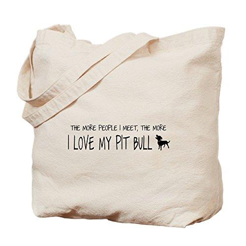 Bing I Love My Pit Bull mehr–Leinwand Natur Tasche, Reinigungstuch Einkaufstasche (Leinwand Bull Drucken)
