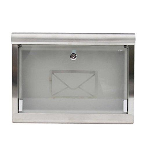 Villa Rainproof hängende Wand Briefkasten Edelstahl Briefkasten Glas Briefkasten Outdoor Fashion Xuan - worth having