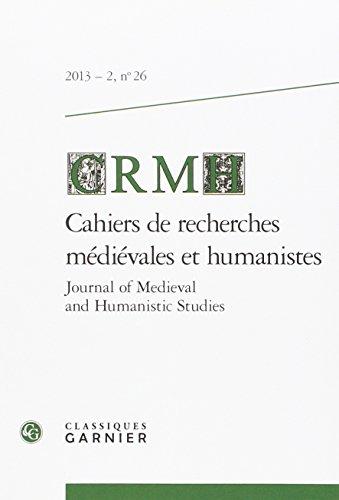 Cahiers de Recherches Médiévales, N° 26/2014 : par CRMH