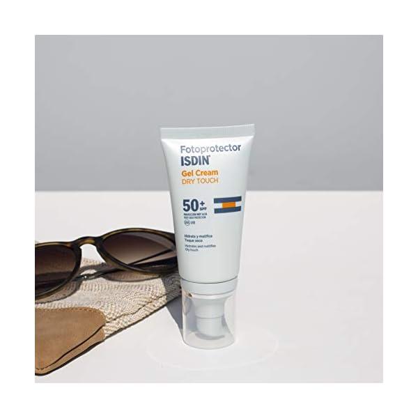 Fotoprotector ISDIN Gel Cream Dry Touch SPF 50+ – Protector solar facial con toque seco y mate, 50 ml