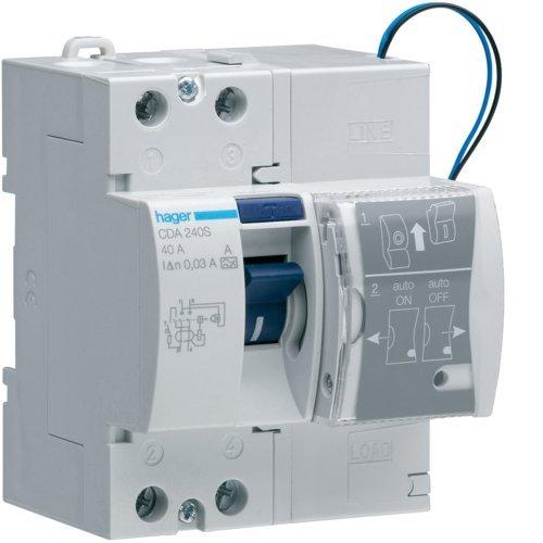 Hager tipo a - Interruptor diferencial con reconexión automático 2 polos 40a...