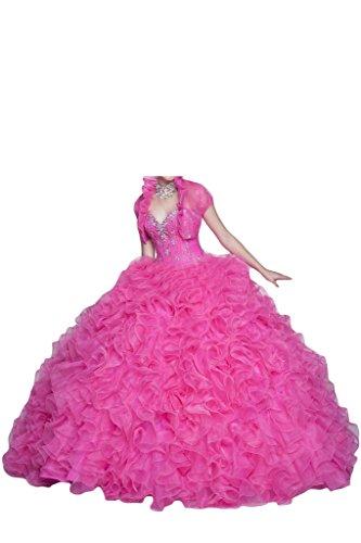 Missdressy - Robe - Sans bretelle - Femme rose bonbon