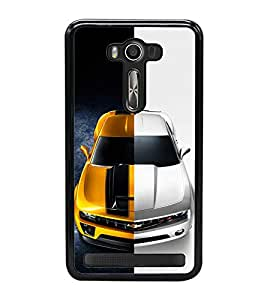 Dual Tone Luxury Car 2D Hard Polycarbonate Designer Back Case Cover for Asus Zenfone 2 Laser ZE500KL (5 INCHES)