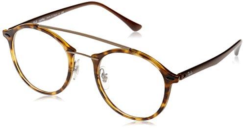 Ray-Ban Unisex-Erwachsene Brillengestell RX7111, Braun/Transparent, 6