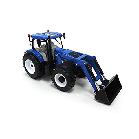 Britains 1:32 New Holland Replica T6.180 Tractor with Front Loader Collectable Farm Toy