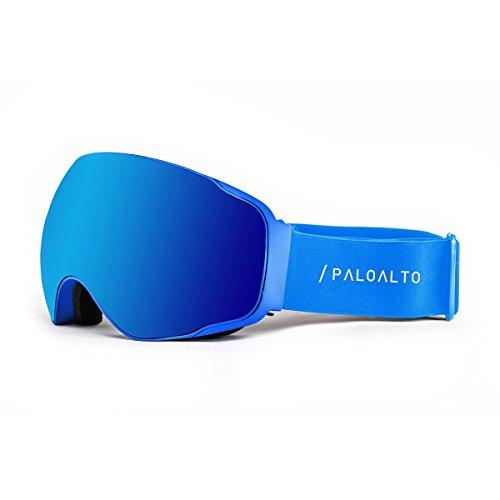 Paloalto Sunglasses Shasta Brille Ski Polarisiert Unisex Erwachsene, Blau