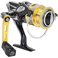 Alomejor Carrete de Pesca 5 + 1BB 7.1: 1 Carrete Giratorio de Metal de Alta Velocidad para la Pesca de Agua Salada al Aire Libre(BR3000)