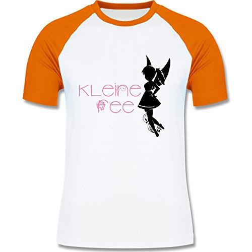Statement Shirts - Kleine Fee - zweifarbiges Baseballshirt für Männer Weiß/Orange
