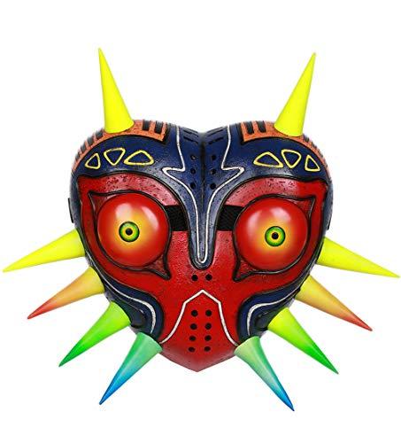 Xcoser Halloween Majora's Maske Deluxe Spiel Cosplay Kostüm Replik für Herren Damen Halloween Carnival Kleidung Merchandise (Deluxe Maske Kostüm)