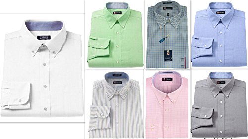Chaps Mens Shirt Cotton Rich easycare Long Sleeve