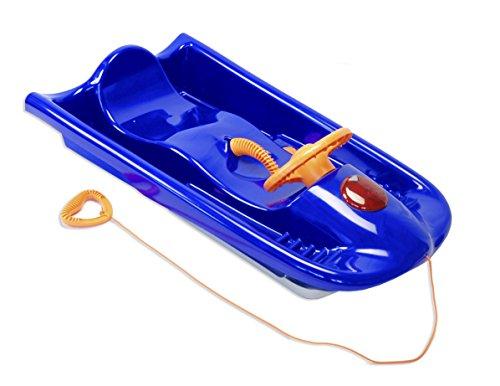KHW Rodel Snow Flyer Deluxe - Deslizador de nieve, color azul / naranja