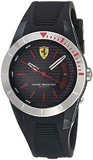 Ferrari Scuderia Men's Black Dial Silicone Band Watch - 84