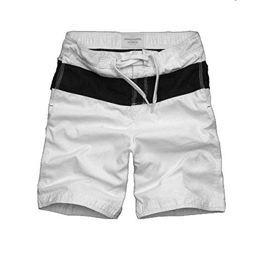 2 Pack Hommes Quick Dry Plage été Loisirs Lâche Coton Grands Chantiers Swim Trunk Tailles Et Couleurs Assorties C