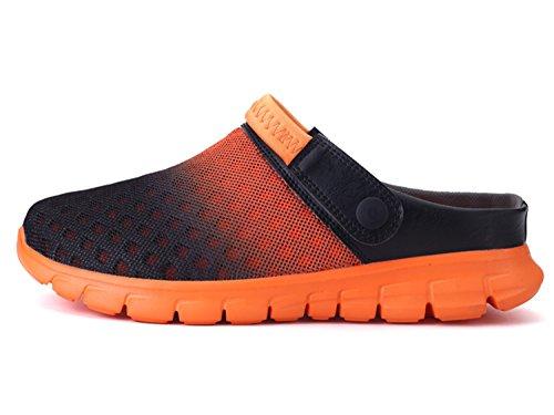 Dias Mulas De Praia Arrasto Chinelos Tamancos Os Baixo Unissex Muffins Sapatos Laranja Todos De Preto Para Chinelos Verão O67xWXqfx