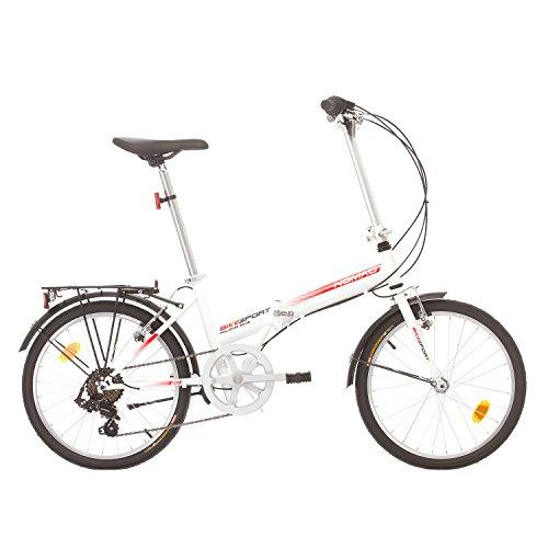 Klapprad Faltrad Fahrrad Bikesport NOMAD 20 Zoll Shimano 6 GANG (Weiß)