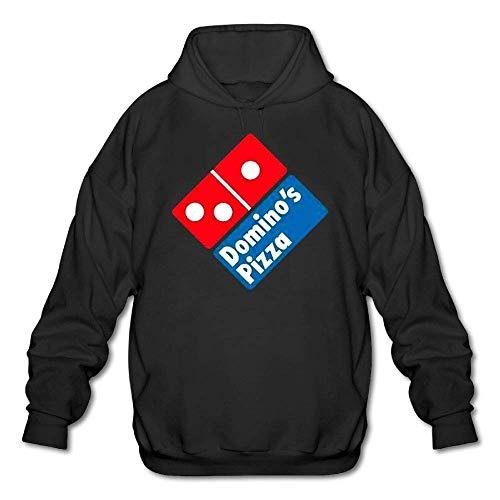 Herren Casual Domino's Pizza Tee Shirts Tshirt Kurzarm Rundhals Baumwoll T-Shirt Pullover Hoodie Sweatshirt Schwarz L (Bekleidung Dominos Pizza)