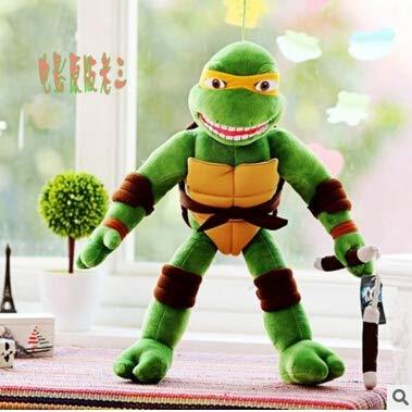 Xuniu Teenage Mutant Ninja Turtles Plüsch Puppe Spielzeug, weiche Plüschtiere Puppe Kinder Geburtstag Geschenke 28 cm (Ninja Turtle Gefüllte)