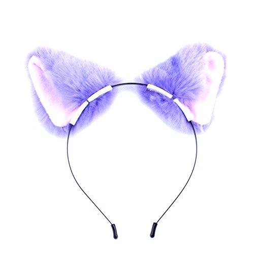 SZTARA Katze Fuchs Lange Pelz Ohr Stirnband Anime Kopfstück Partei Kostüm Comic Zubehör (Nette Frauen Katze Kostüme)