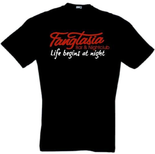 Fangtasia Bar T-Shirt True Blood Vampir Schwarz