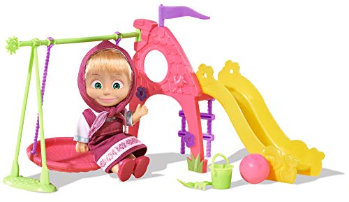 Simba 109301816 - Masha y el oso, parque de juegos