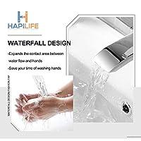 [Basin Tap] Hapilife Stunning Waterfall Bathroom Sink Monoblock Mixer Faucet Chrome