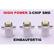 3 x weiße high Power SMD-LED Tacho Beleuchtung VW T3 Bus - Golf 2 - Polo 86c weiß