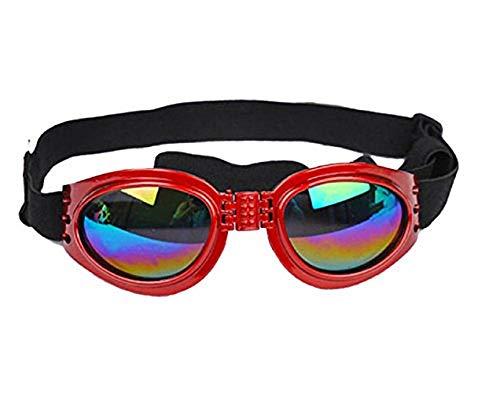 Inception Pro Infinite (Red) Hund Sonnenbrille mit einstellbarem elastischen UV400 Schutz