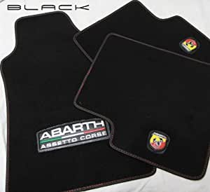 abarth jeu de tapis de sol abarth assetto corse pour fiat 500. Black Bedroom Furniture Sets. Home Design Ideas