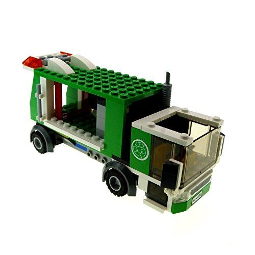 Preisvergleich Produktbild 1 x Lego System Müll Wagen grün Recycling für Set Modell City 4432 Garbage Truck incomplete unvollständig