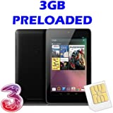 Three Original Broadband Ready to Go 3GB Micro Sim Card for Asus Google Nexus 7 - Preloaded Data lasts for 90days