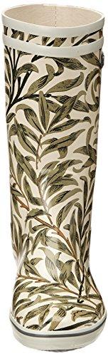 Aigle Malouine Print, Bottes femme Beige (Leaves)