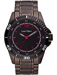 Reloj hombre Louis Villiers acero negro 45 mm lv1007