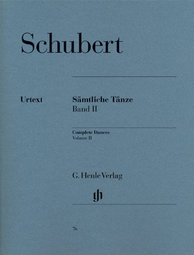 Complete Dances   Vol. 2 - piano - (HN 76) par Franz Schubert